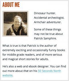 A brief bio for the homepage.