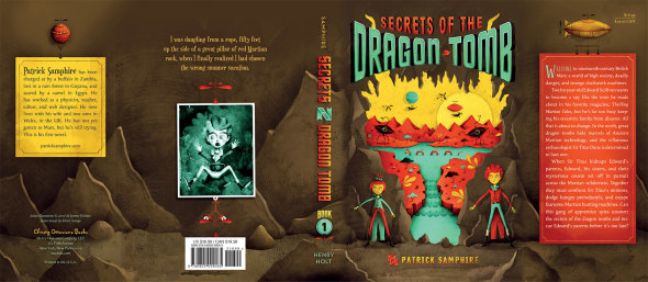 Secrets of the Dragon Tomb, full jacket. Art by Jeremy Holmes. Cover design by Eileen Savage.